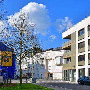 Immeuble Il'come. Architectes : Bodreau architectes Maitrise d'ouvrage: Boreale developpement. Nantes (Loire-Atlantique) 03/2019 © Vincent Jacques/Samoa