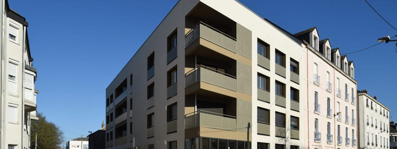 Immeuble Il'come. Architectes : Bodreau architectes Maitrise d'ouvrage: Boreale developpement. Nantes (Loire-Atlantique) 03/2019 © Jean-Dominique Billaud/Samoa