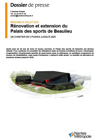 dp beaulieu sport 400x565 - Rénovations et extension du Palais des sports de Beaulieu