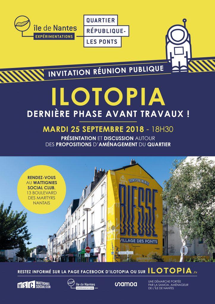 Ilotopia affiche ile de nantes 724x1024 - Ilotopia : présentation des propositions d'aménagement du quartier République-Les Ponts