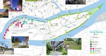 Plan des balades de l'île de Nantes