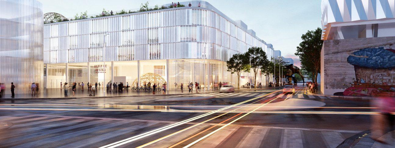Perspective de la future Ecole de Design © Mimram_Gpaa_Jouin Manku_Samoa