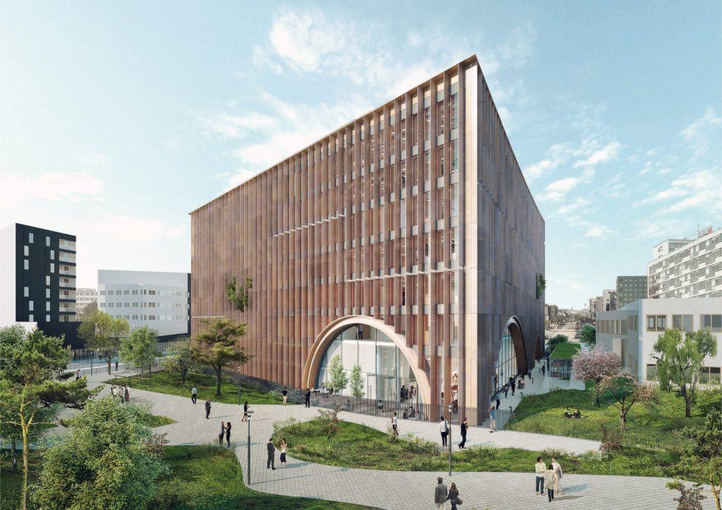 Perspective de la Maison de linnovation © Baumschlager Eberle Architectes 1024x724 - Maison de l'innovation du Groupe La Poste