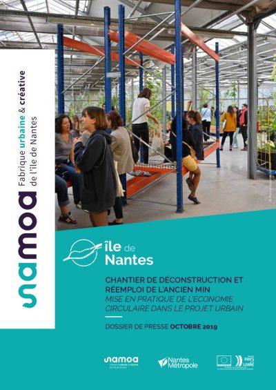 Une du dossier de presse sur le chantier de déconstruction de l'ancien MIN de Nantes