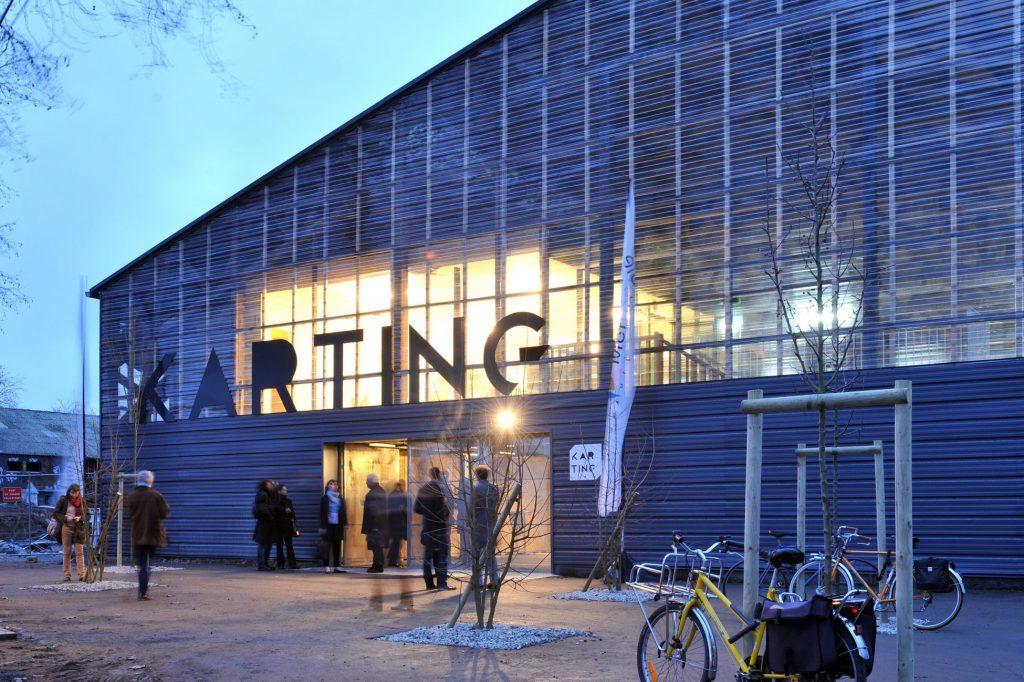 Inauguration du hangar Karting. Architecte  Berthomieu. Nantes Loire Atlantique 01 2012 © Jean Dominique Billaud Samoa 1024x682 - Des halles Alstom au MIN, 30 ans d'urbanisme transitoire sur l'île de Nantes