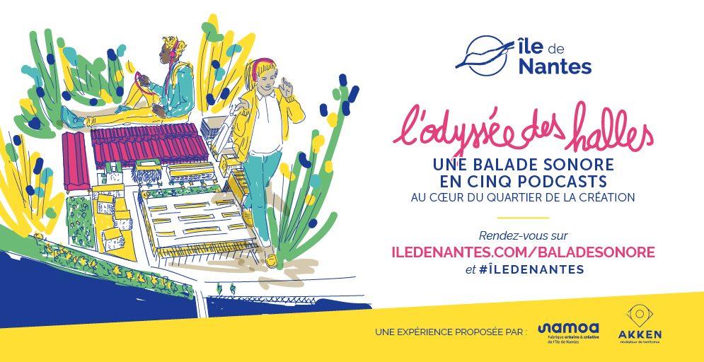 OdysséeDesHalles BaladeSonore Twitter 1024x512px 995x512 - Une voie à énergie solaire au cœur de Nantes : partagez vos idées sur l'utilisation de l'électricité produite !