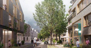La rue des voisins, espace de rencontres et de sociabilité à l'échelle du quartie. Nantes (Loire-Atlantique) © Ajoa/Schorter/Samoa