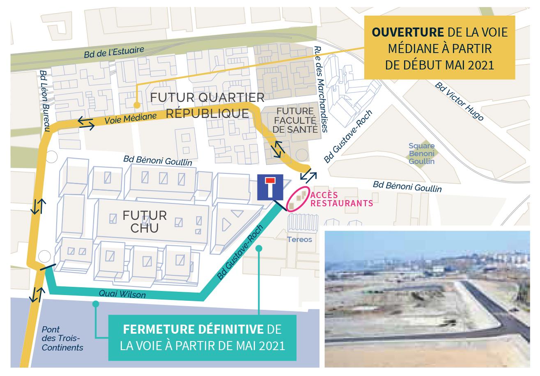 voiemediane - Quartier République : un nouvel axe de circulation mis en service en mai 2021